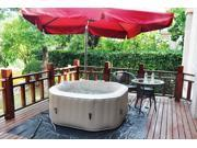 Homax Inflatable 158 gallons(600 Liter) SPA 4-Perseon 130 Air Jets Include Accessories octagon Portable Hot Tub SPA Easy Plug N Play