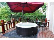 Homax Inflatable 264 Gallons(1000 Liter) SPA 6-Perseon 130 Air Jets Include Accessories Round Portable Hot Tub SPA Easy Plug N Play