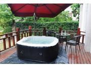 Homax Inflatable 158 Gallons(600 Liter) SPA 4-Perseon 130 Air Jets Include Accessories Square Portable Hot Tub SPA Easy Plug N Play