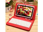 IRULU 7 inch Android Tablet PC With Keyboard Case,4.2 Jelly Bean OS, Dual Core, Allwinner A23 CPU, Dual Cameras, 5 Point Capacitive Touch Screen, 8GB Storage, White Tablet & Red Keyboard Case