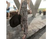 Autumn outfitNew nightclub fashion women's wear sleeveless get loose strapless leopard grain jumpsuits with a word 6653