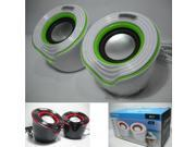 Neutral. Small speakers Gift notebook computer speakers for cases of mini stereo USB2 0 M21