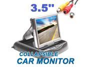 3.5 Inch TFT LCD Rearview Fold Monitor For DVD VCR GPS And Car Reverse Camera