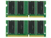 1GB KIT (2X512MB) SDRAM MEMORY 3.3V  144-PIN RAM PC100 7NS SODIMM