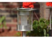 8 Piece Set of Outdoor Stainless Steel Solar Garden, Landscape / Pathway Lights