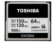 Wholesale 2x Toshiba CompactFlash 64GB Professional 1000x UDMA 7 CF Exceria 64G  with mini M2 card reader