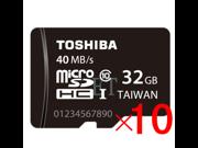 Wholesale 10x Toshiba 32GB microSD 32G microSDHC micro SD SDHC/SDXC  Card Class 10 UHS-I 40MB/s with mini M2 card reader