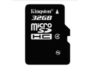 1 pack 32GB  32G Original Kingston microSDHC Card Class 4 TF C4 Flash Memory Card for mobile phones, smartphones, tablets and other portable devices