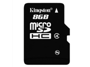wholesale 2* 8GB  8G Original Kingston microSDHC Card Class 4 TF C4 Flash Memory Card for mobile phones, smartphones, tablets and other portable devices
