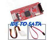 IDE TO SATA 100/133 HDD/CD/DVD Converter Adapter + Cable