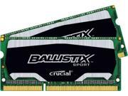 Crucial Ballistix Sport SODIMM 8GB Kit (2 x 4GB) 204-Pin DDR3 SO-DIMM DDR3 1866 (PC3 14900) Memory For Laptop DUAL CHANNEL Memory Model BLS2K4G3N18AES4