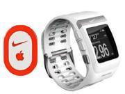 Nike+ Running SportWatch GPS w Shoe Sensor White/Silver by TomTom Ship by DHL