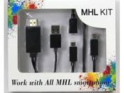 1080P Universal Micro USB MHL To HDMI Cable HDTV Adapter For Samsung Galaxy S2 S3 S4 S5 Note 3 III For HTC LG