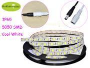 5M Cool White 300 LED SMD 5050 Flexible Tape Strip Car Lights IP65 Waterproof DC12V