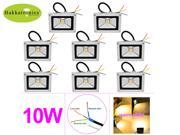 8 PIECES HAKKATRONICS 10W LED FLOOD LIGHT OUTDOOR IP65 WATERPROOF FLOODLIGHT AC 85-265V COB LED SECURITY WASH LAMP