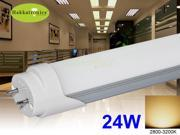 10X T8 LED tubes 24W 5FT 1.5M  FLUORESCENT TUBE LIGHT WARM WHITE 2800K - 3000K AC120V G13 BASE 2 YEARS WARRANTY