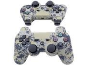 Jumascoul Super Bluetooth Wireless Double Vibration Controller Remote Console Camouflage Camo for Sony Playstation 3