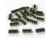 20pcs / 20 x 4 Pin RGB Connector Adapter Male to Male Needle, For LED SMD RGB 5050 3528 Strip DIY