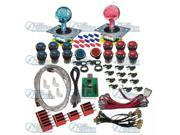 2 player USB to Jamma with Illuminated Joystick kit/Arcade parts Bundle kits with chrome to Build Up Arcade Machine By Yourself