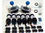 ARCADE PARTS BUNDLES WITH BLUE BALL TOP JOYSTICKS & PUSHBUTTONS KIT AND MICROSWITCH FOR BUILD UP YOUR ARCADE VIDEO GAME MACHINE