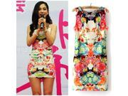 New arrival fashion women summer dress floral print women dress