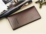 2014 new leather brand men long wallet money clips wallets men wallets no zipper coin purse card holder