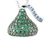 HERSHEY'S KISSES® Silver May CZ Multi-Stone Pendant with Chain
