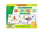 Scholastic Transportation Magnetic Pattern Blocks SHS0545119375