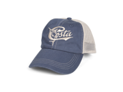 Retro Trucker Hat. Washed cotton twill. Embroidered Costa Logo. Adjustable cap with snap closure.
