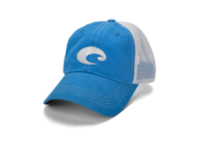 Costa Mesh Hat 6-panel trucker cap with cotton front and mesh back panels. Garment washed for softness, comfort and a broken-in look. Velcro back closure for quick release.