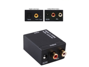 Digital Optical Coaxial Toslink to Analog Audio Converter with US Standard Adapter