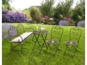 Provence Metal Folding Garden Bistro Table - Warm Brown