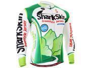Fixgear Shark SKIN Print Cycling Jersey Biking Green Shirts Men S~3XL