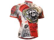 Fixgear Cycling Jersey Skull Printed Bike Wear Shirt For Men S~3XL
