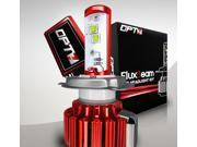OPT7 Motorcycle LED Headlight Kit w/ Arc-Glass Clear Beam - 40W 3,500Lm Crystal White 6K CREE (H4, 9003)
