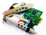 Elenxs 7.1 Channels PCI-Express Sound Card