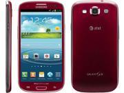 SAMSUNG GALAXY S3 I747 - AT&T UNLOCKED FOR ALL GSM CARRIERS WORLDWIDE - A STOCK - RED -ANDROID