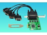 Tekit 4 Serial Ports PCI-e Controller Card, w/ Fan-out Cable, Low Profile Bracket