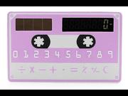 Solar Powered 8-Digit Ultra-Thin Pocket Card Calculator,Creative Mini Slim Credit Card Solar Power Pocket Calculator 8 Digits