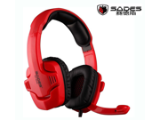 Sades SA-901C  Gaming Stereo 7.1 Surround Pro USB Headset Headphone earphone with Mic & retail package for  PC Laptop