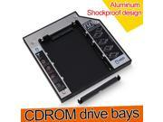 12.7mm SATA to SATA Optical Bay Hard Drive Adapter Caddy for Laptop,12.7mm SATA / HDD HD Hard Drive Caddy Case for Universal Laptop CD / DVD-ROM,