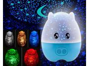 Glovion Lovely Pig Shape Rotating Projection Lamp Star Master LED Projector Night Light with Speaker With US adapter (Blue)