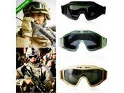 CS Airsoft Tactical Explosion-proof Goggle Glasses Eye Protection Mask 3 Lenses