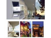 Waterproof Outdoor Solar PIR Motion Sensor LED Light Garden Wall Yard Fence Lamp