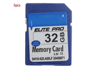 5PCS 32G SDHC Secure High Speed Flash Memory Card F Digital Cameras Camcorders For MP3/4 Player Digital Video Smart Phones Car Navigation Systems