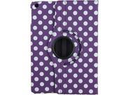 Purple Polka Dots Design 360 Degree Rotating PU leather Folio Stand Case Cover for Nook HD 7 inches Barnes & Noble e-book Reader Tablet
