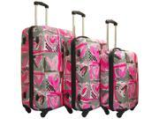 Heys Usa Pop Hearts 3 Piece Spinner Luggage Set