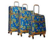 Heys Usa  Aerolite Hearts 3pc Spinner Luggage Set Blue