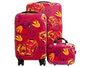 Heys Tribeca 3pc Spinner Luggage Set Ikat Hearts