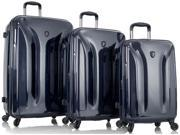 Heys America Astra Deep Space Expandable 3 Piece Spinner Luggage Set - Midnight Blue
